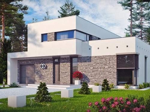 Большой дом в стиле модерн 210 кв.м