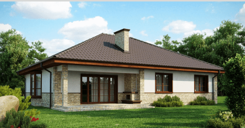 Дом с многоскатной крышей 134 кв.м