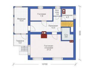 Уютный дом два этажа 120 кв.м