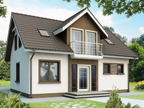 Современный дом с открытым балконом 143 кв.м