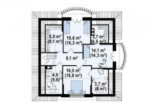 Красивый дом с витражными окнами  и балконом 186 кв.м