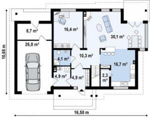 Классический дом с функциональным гаражом 206 кв.м