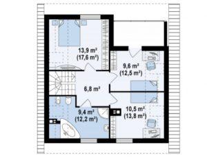 Недорогой в строительстве дом с мансардой 30 кв.м