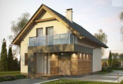 Современный компактный дом, для постройки на небольшом участке  105 кв.м