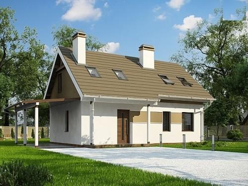 Небольшой уютный дом с двускатной крышей 111 кв.м