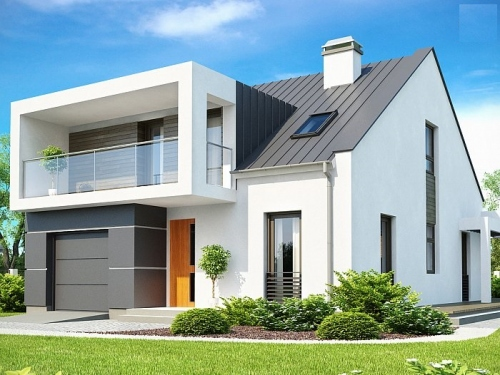 Дом в стиле модерн со встроенным гаражом 177 кв.м