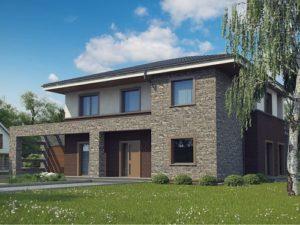 Дом с сауной  с современной архитектурной отделкой, 235 кв.м
