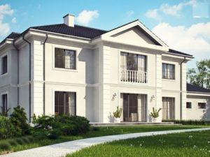 Двухэтажный особняк c балконом над входом 355 кв.м