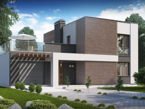 Современный дом с открытой террасой 133 кв.м