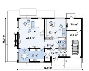 Большой дом с богатым интерьером 244 кв.м
