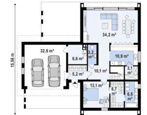 Дом с мансардой и гаражом на два авто 234 кв.м