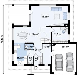Современный комфортный дом два этажа 240 кв.м
